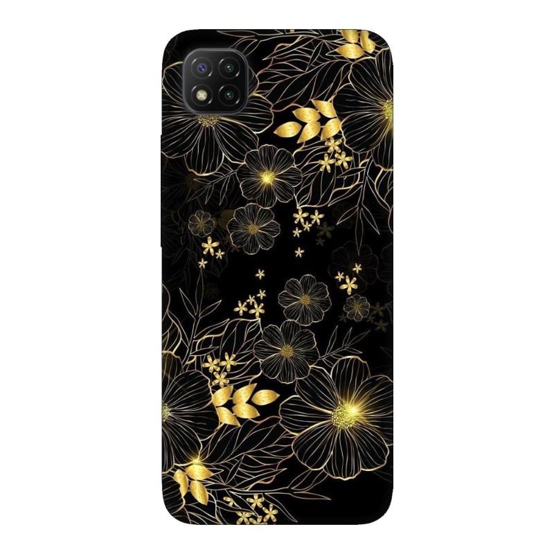 Xiaomi Poco C3 кейс Златни цветя
