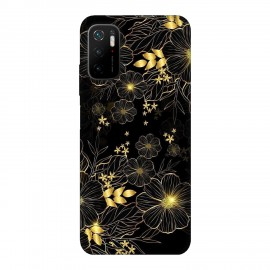 Xiaomi Poco M3 Pro 5G кейс Златни цветя