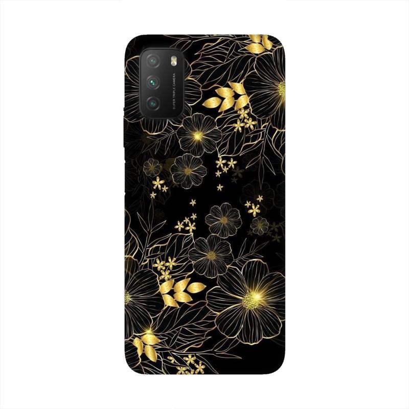 Xiaomi Poco M3 кейс Златни цветя