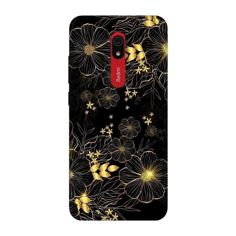 Xiaomi Redmi 8A кейс Златни цветя