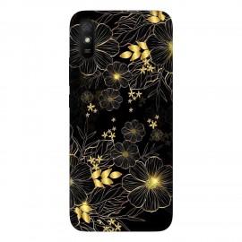 Xiaomi Redmi 9A кейс Златни цветя