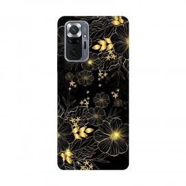 Xiaomi Redmi Note 10 Pro кейс Златни цветя