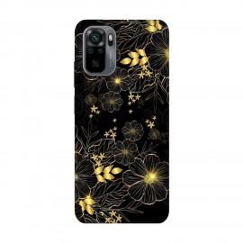 Xiaomi Redmi Note 10 кейс Златни цветя