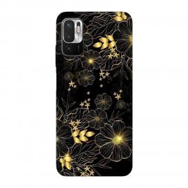 Xiaomi Redmi Note 10T 5G кейс Златни цветя