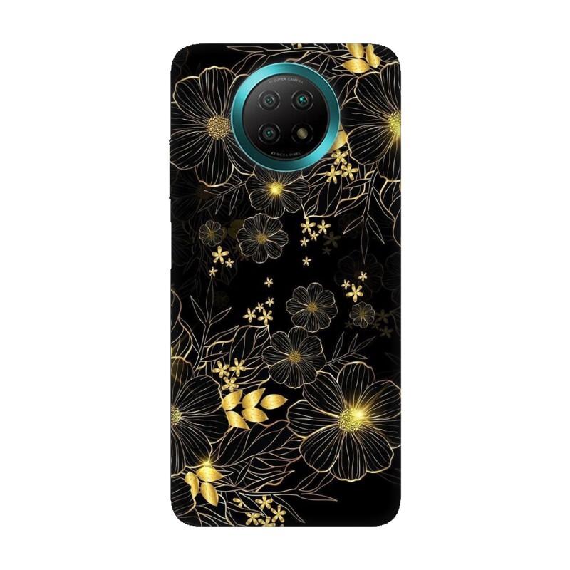 Xiaomi Redmi Note 9Т кейс Златни цветя