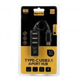Type-C USB 3.1 разклонител с 4 порта