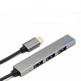 Type-C към USB 3.0 разклонител с 4 порта